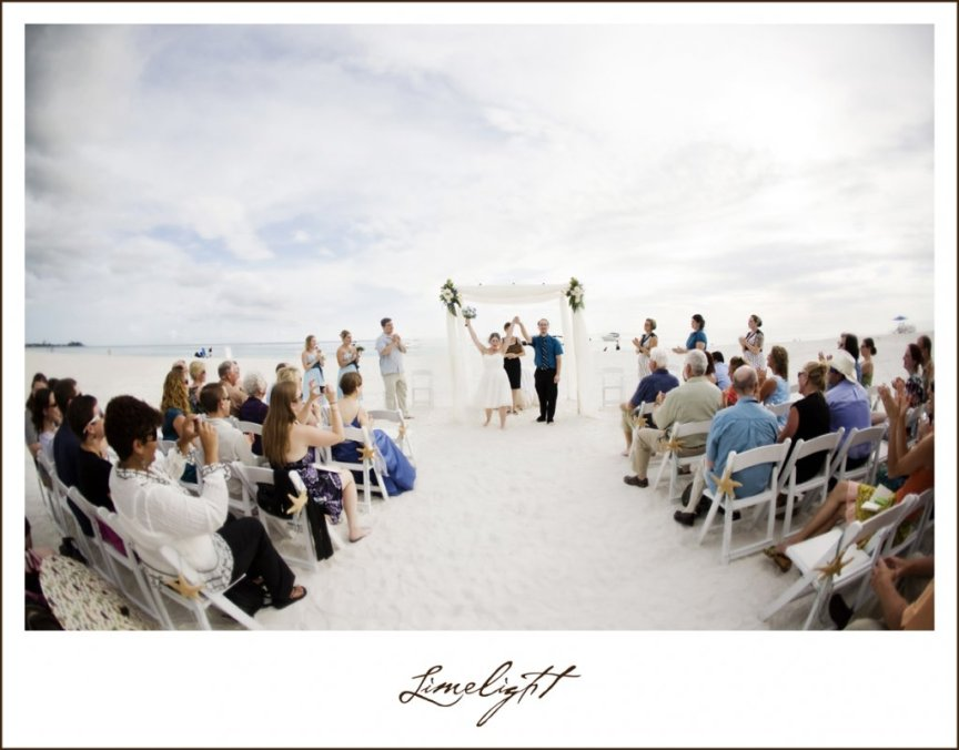 Sarasota Beach Wedding - Ceremony on Lido Beach