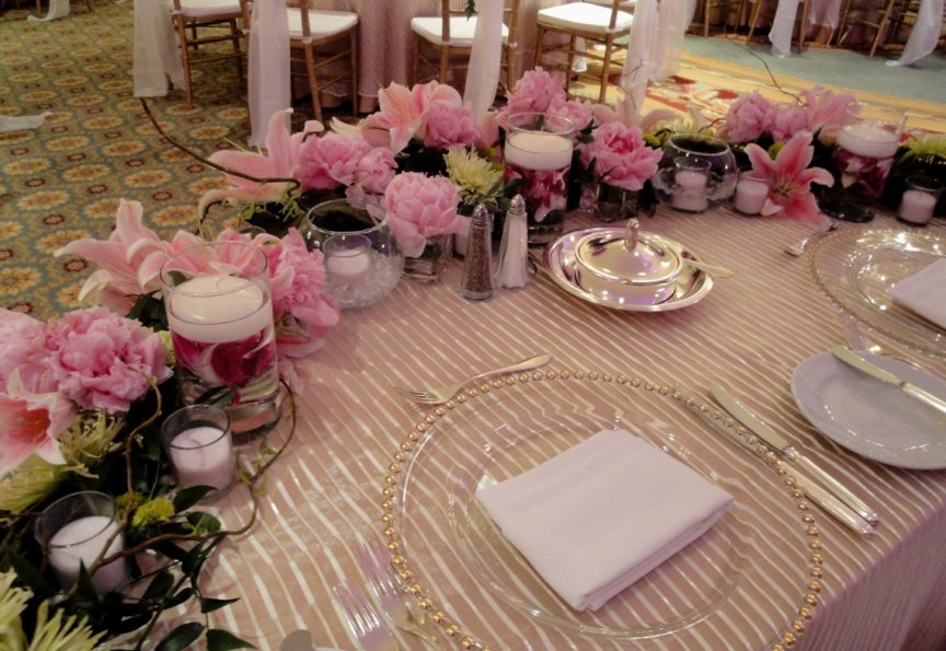 Sweetheart Table with Wedding Flowers