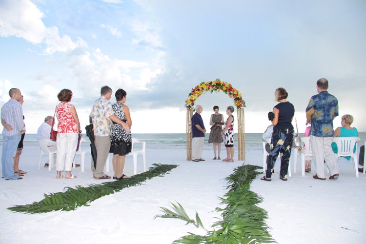 Wedding Flowers on Sarasota Beach for Renewal of Vows