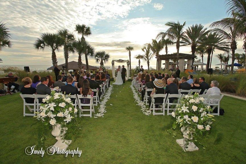 Wedding Flowers at Sarasota Ritz Carlton Beach Club Wedding