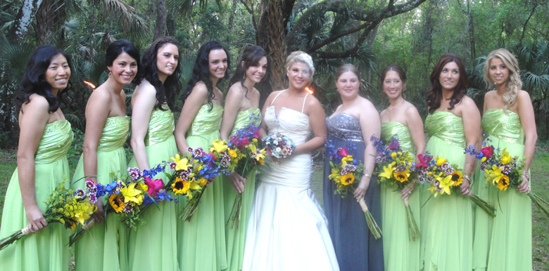 Bridal Party at Windsong Farm Wedding