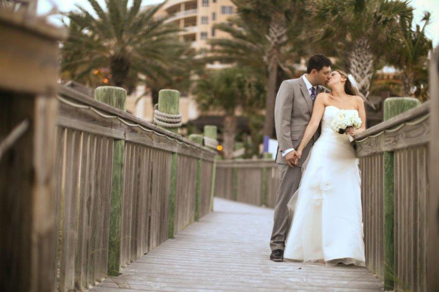 Ritz Carlton Sarasota Wedding Couple