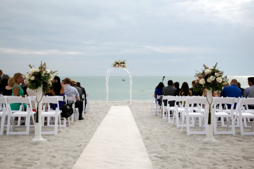 Lido Beach Resort Wedding with Arch