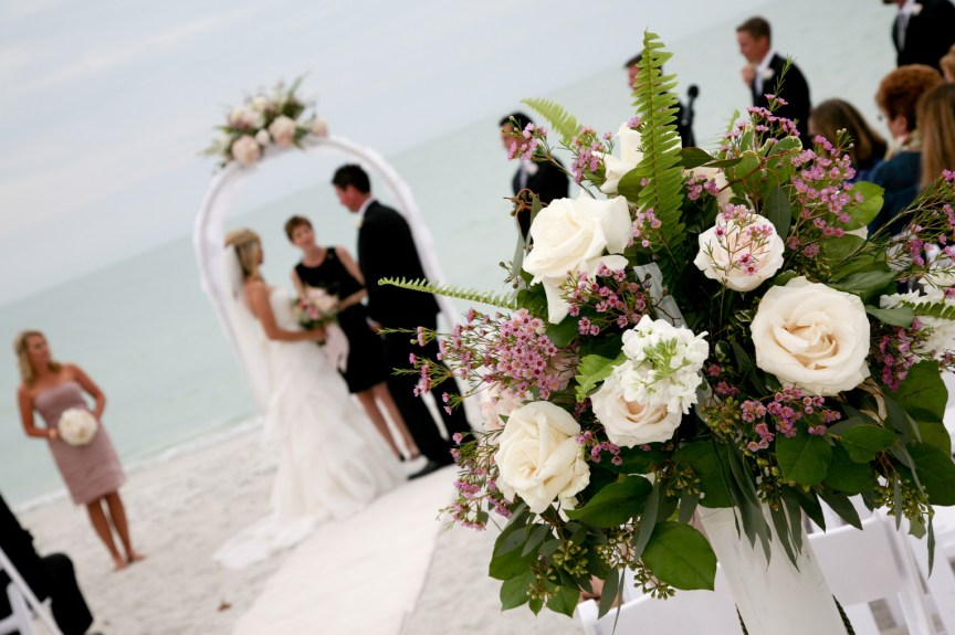 Flowers at Lido Beach Wedding