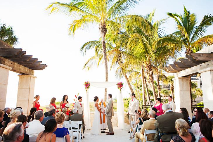 Colorful Ritz Beach Club Wedding