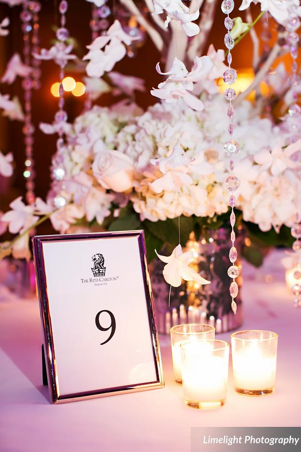 Table Centerpiece with Hydrangea and Orchid