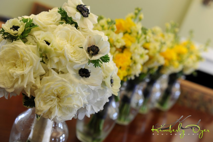 Bridal Bouquet with Roses and Anemones