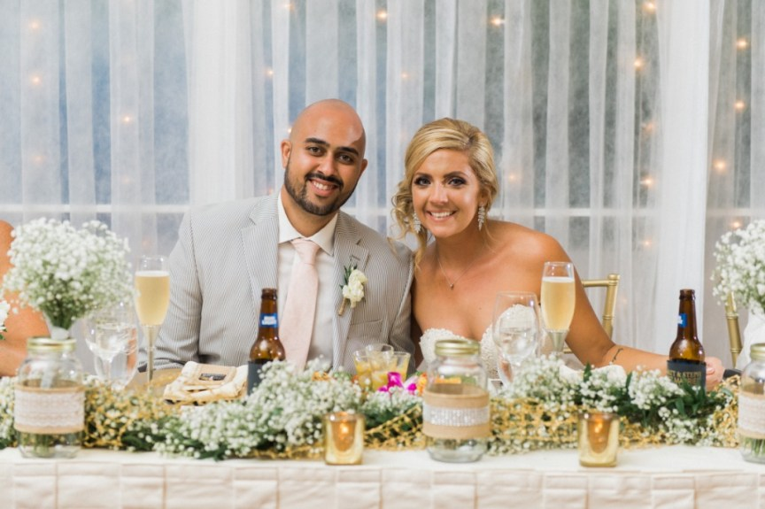 Head Table with Baby's Breath