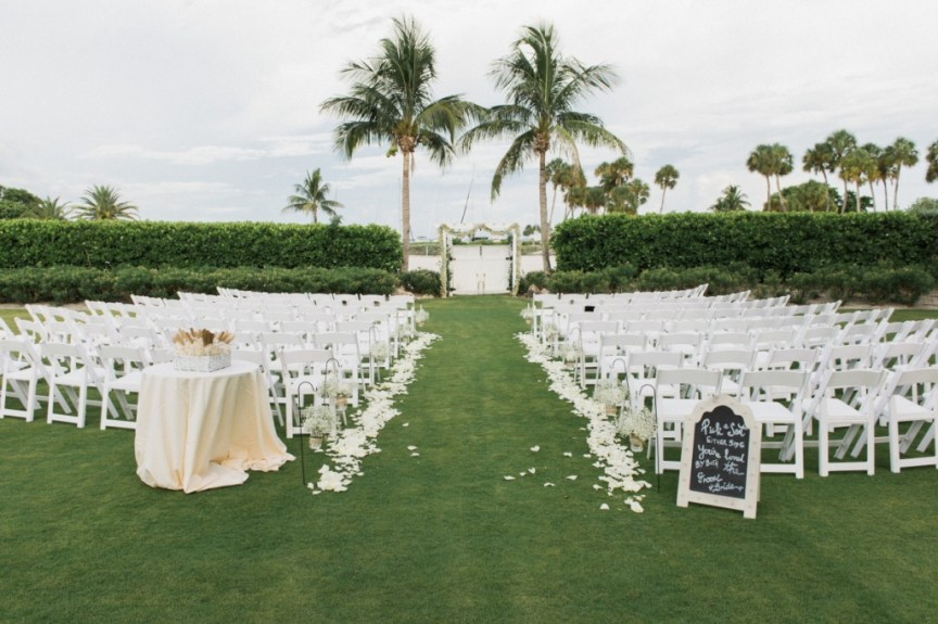 Ceremony Area with Roses Petals and Garland on Gazebo