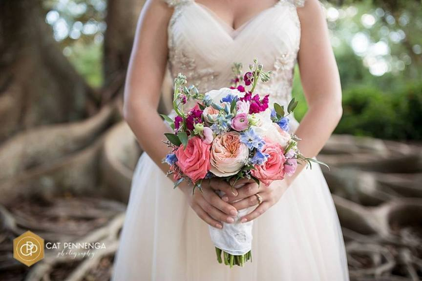 Bridal Bouquet with Garden Look