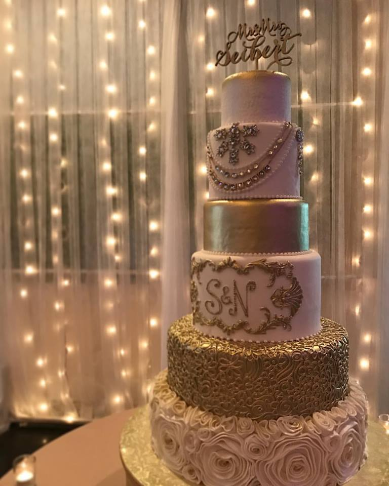 Gold Cake by Cakes by Ron
