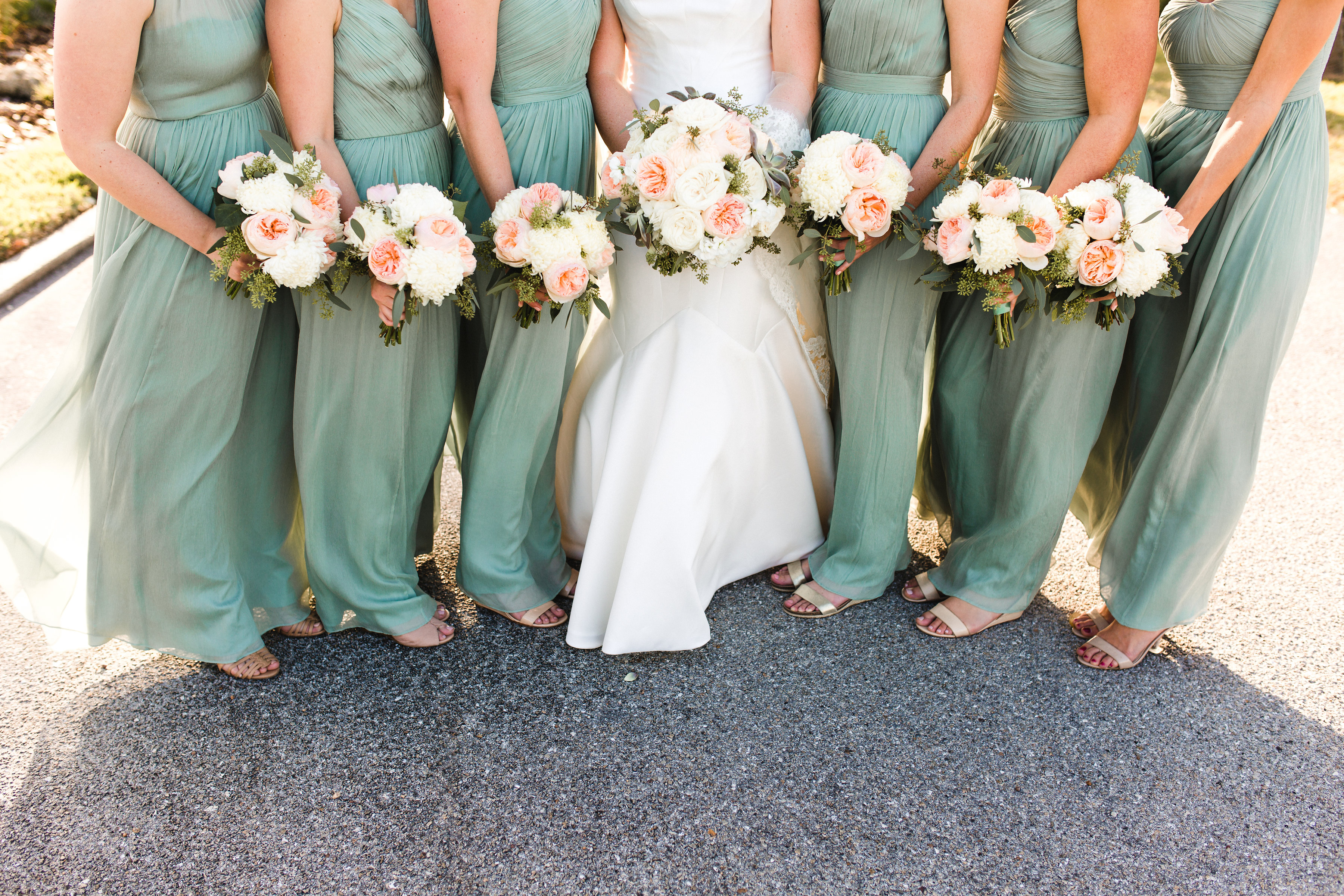 Brides and bridesmaids Bouquets