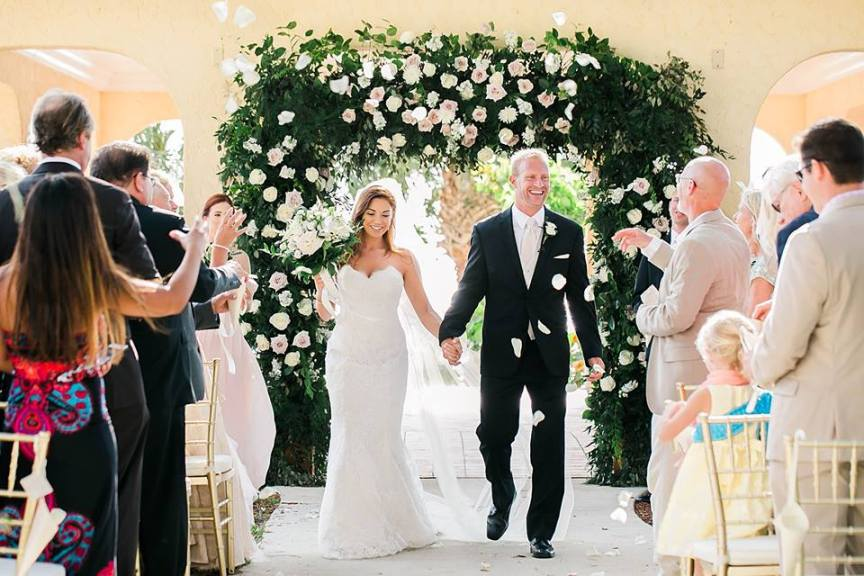 Wedding Garden Arch with Roses