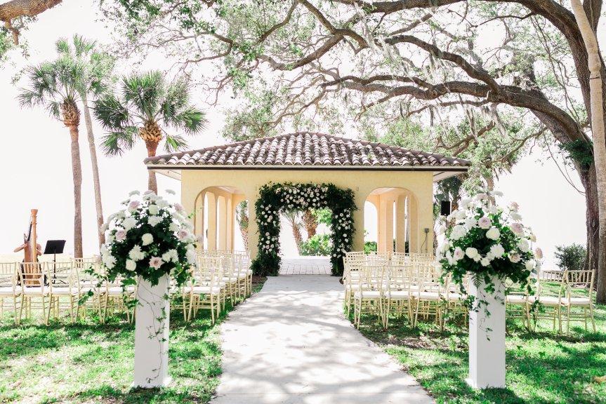 Powel Crosley Gazebo Ceremony Site with Garden Arch