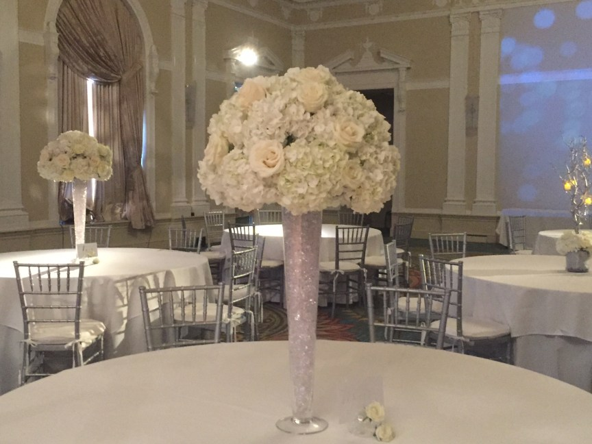 White And Silver Wedding At The Vinoy In St Petersburg Sarasota