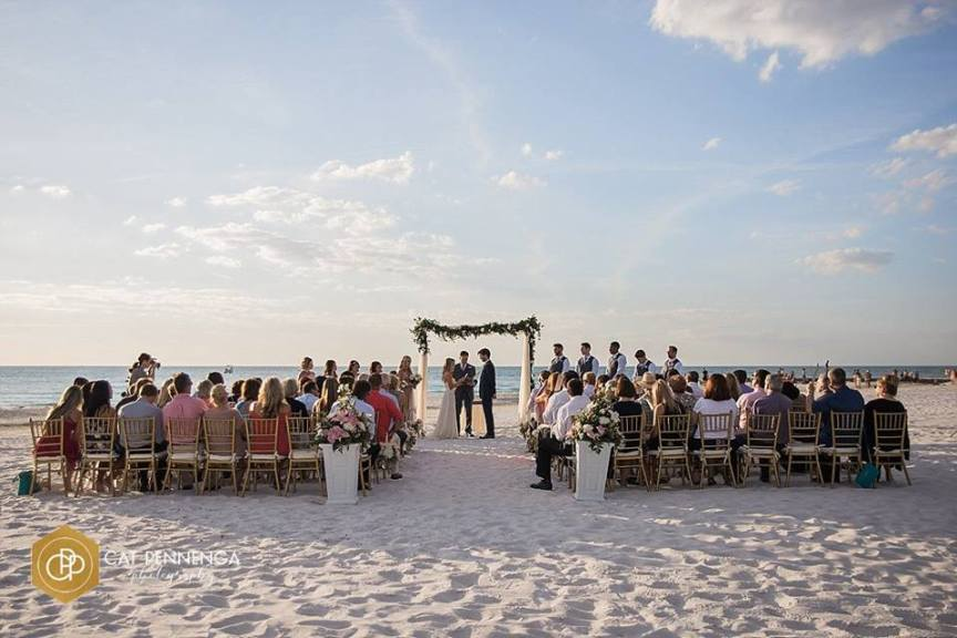 Ceremony Site on Siesta Key Beach