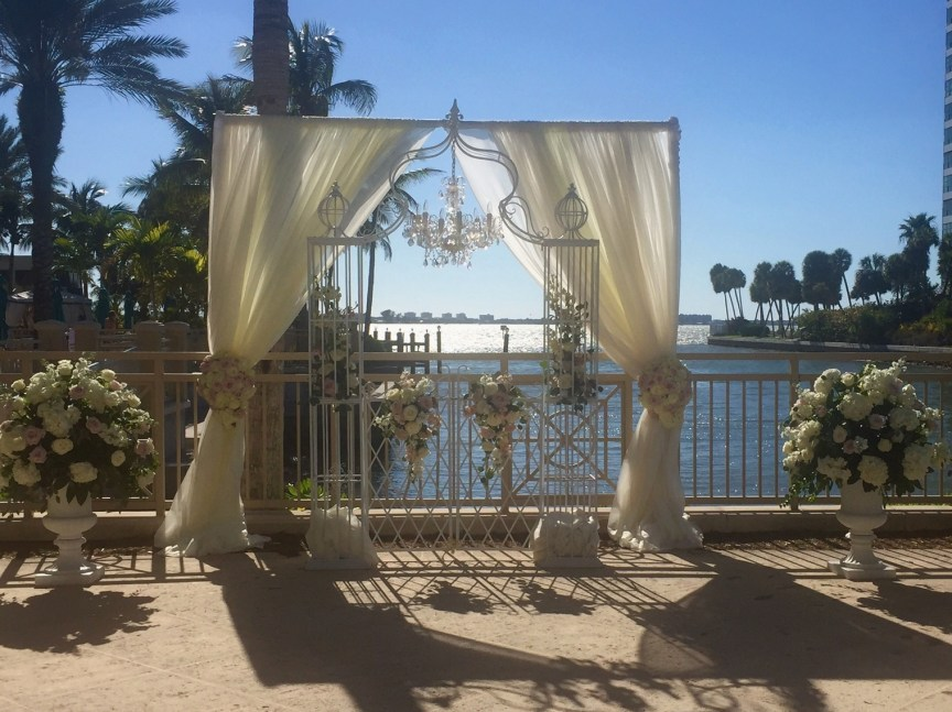 Wedding Arch with Flowers on Bayview Terrace