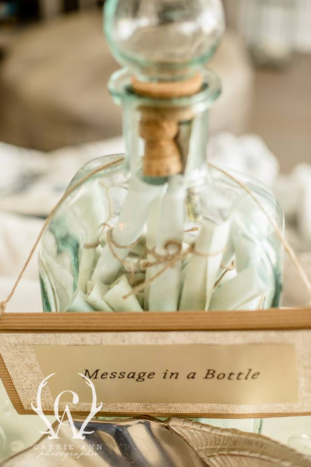 Fun Wedding Details Message in a Bottle