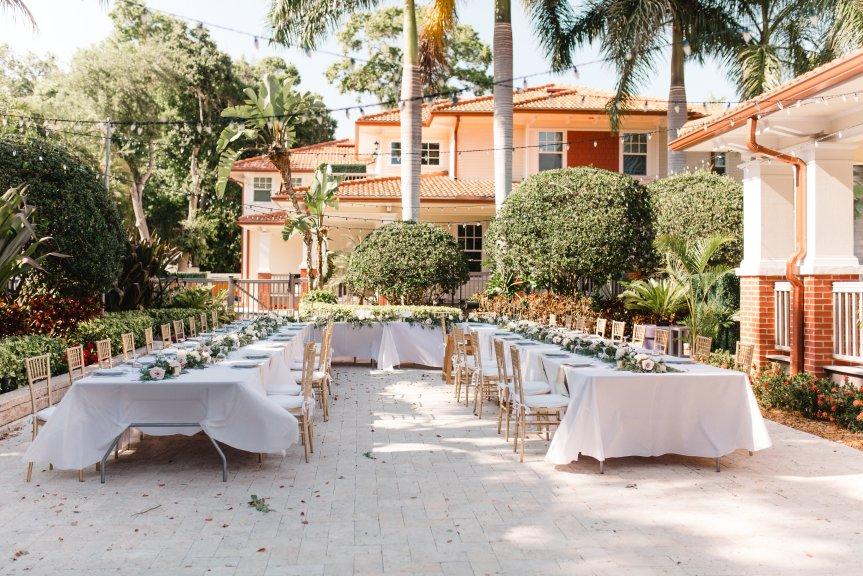 U-Shaped Tables at Reception