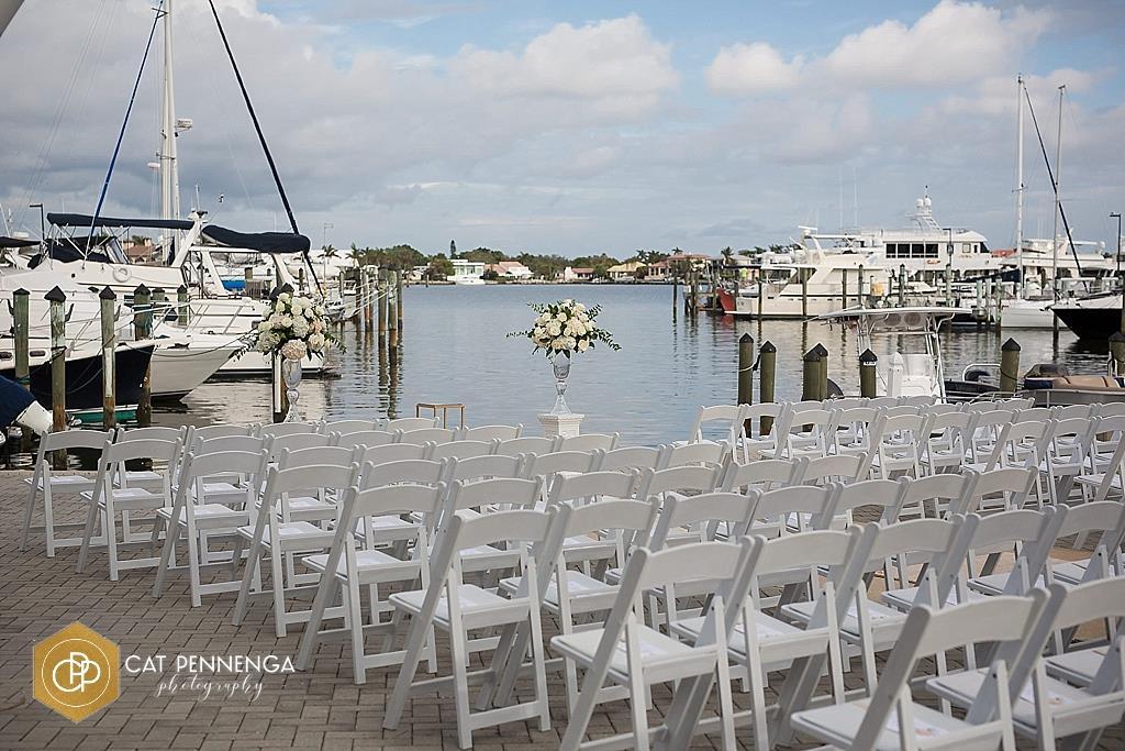 Double Bell Arrangements at Waterside Ceremony Site