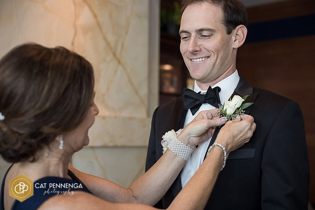 Groom with Double Spray Boutonniere