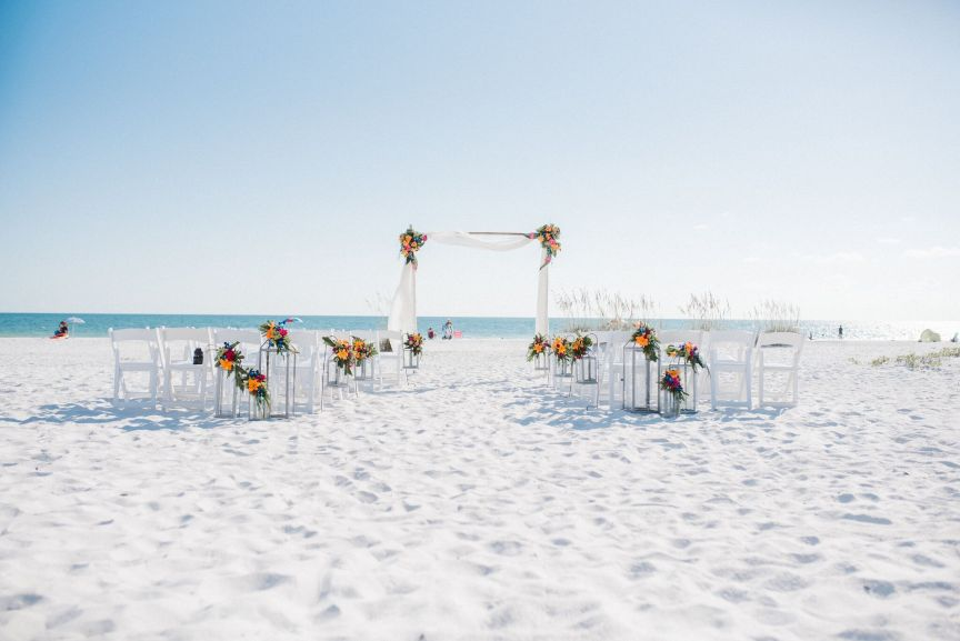 Ceremony Site with Arch on Beach