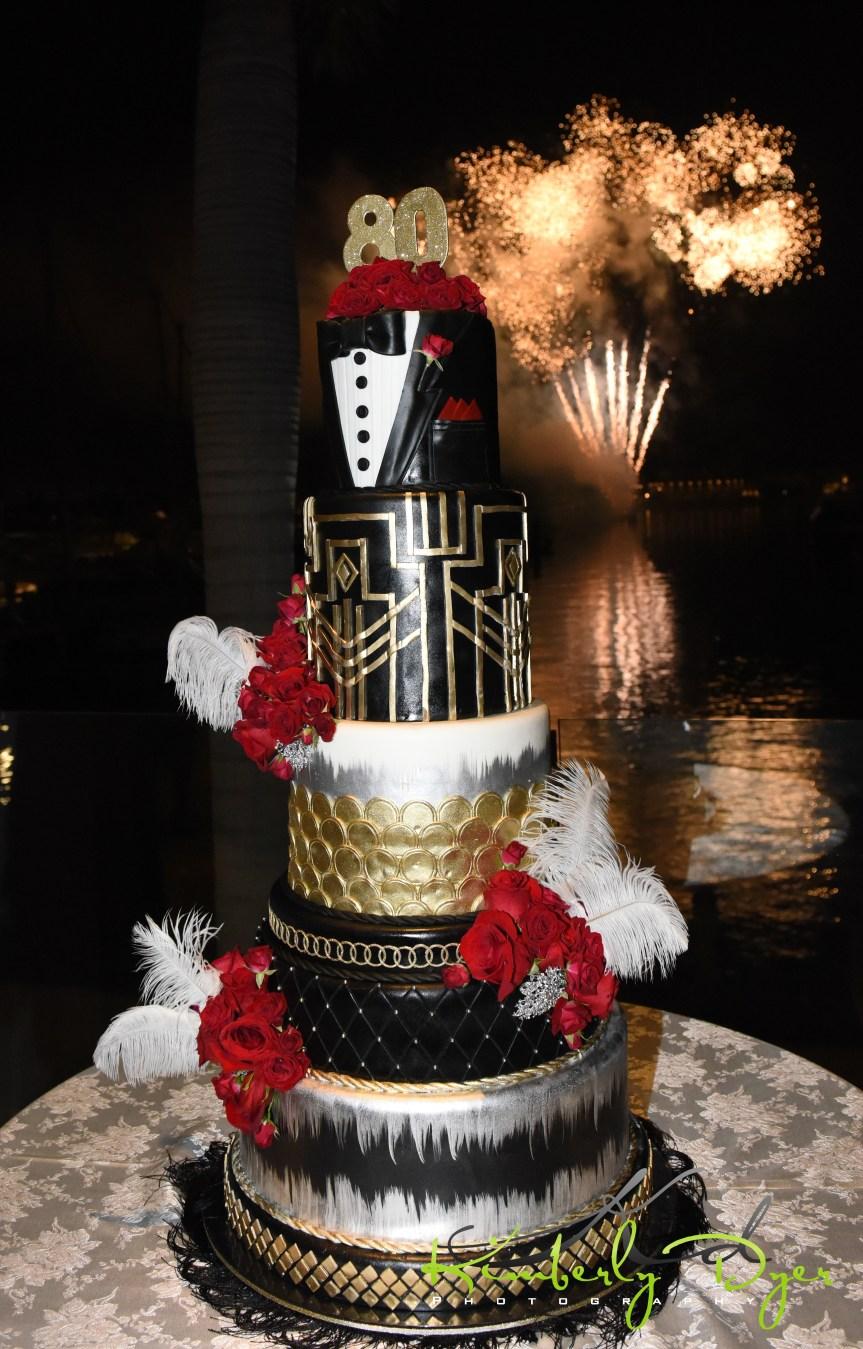 Great Gatsby Themed Birthday Cake