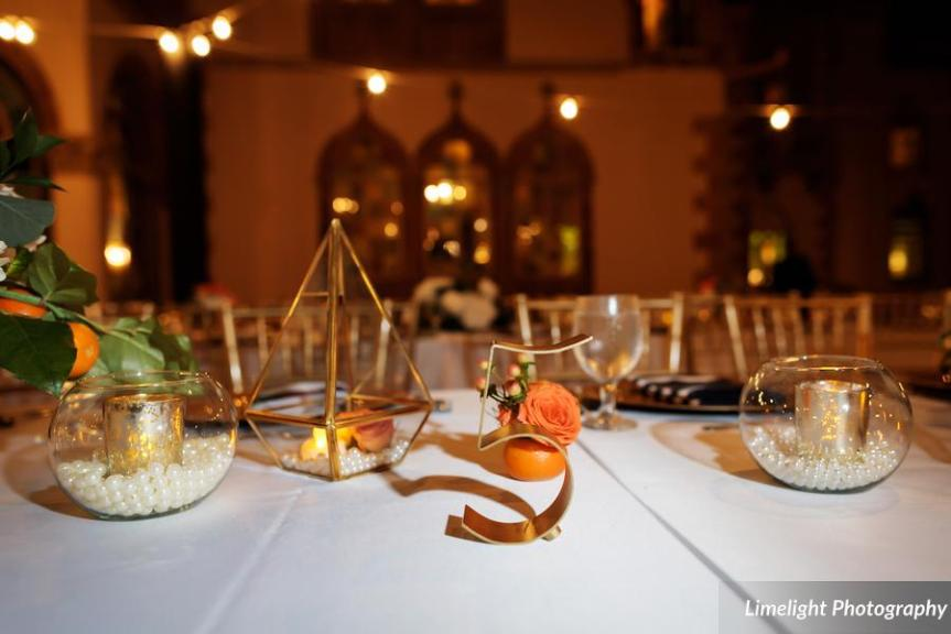 Assorted Decorative Elements on Feasting Table