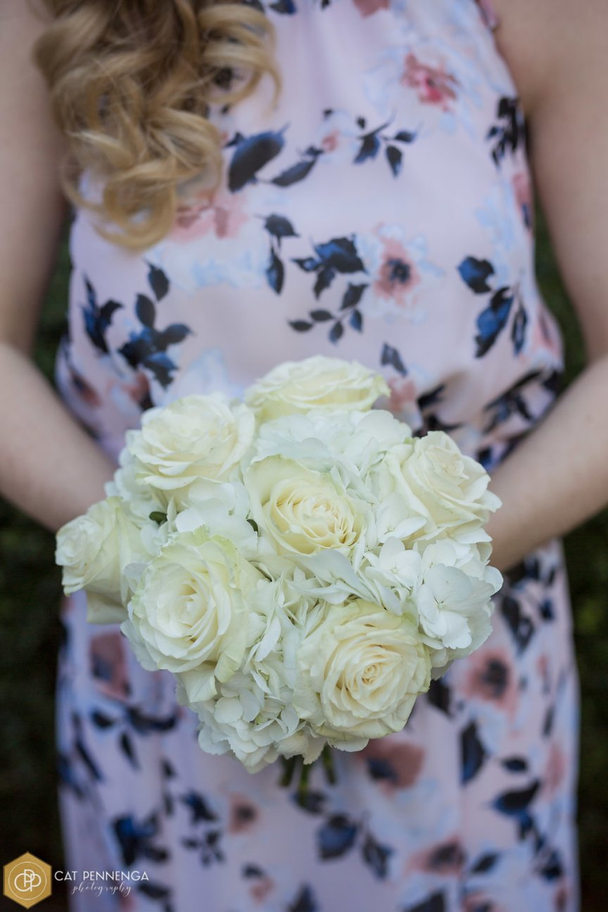 Bridesmaid's Bouquet with Mondial Roses and Hydrangea