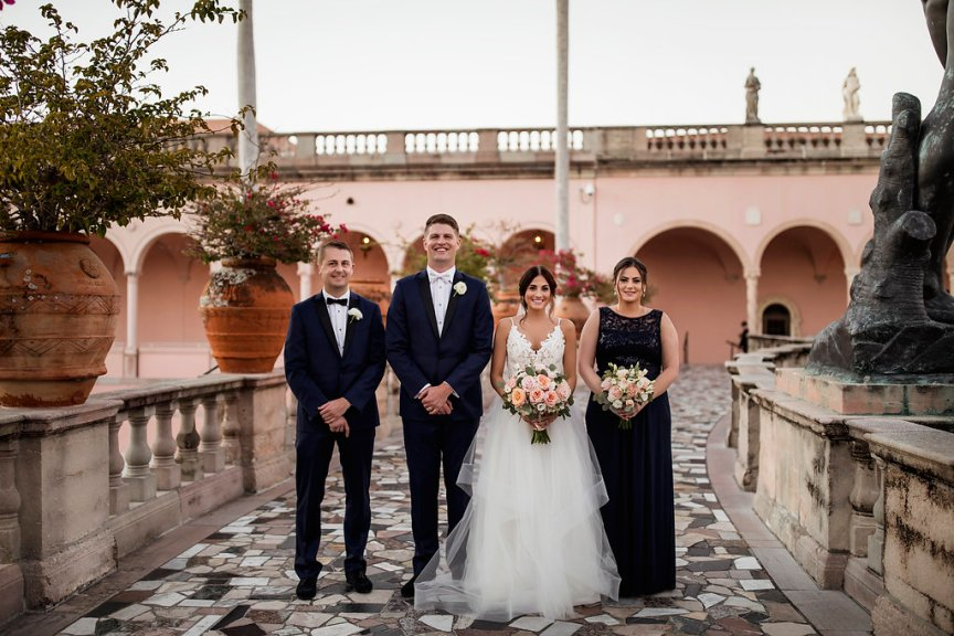 Wedding Party with Flowers