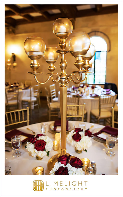 Gold Candelabra on Guest Table