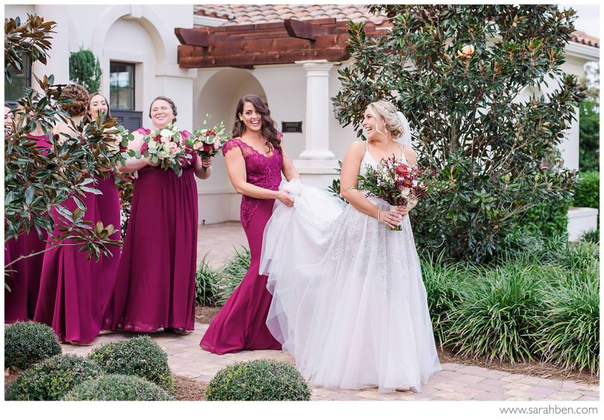 Bride with Bridesmaids!