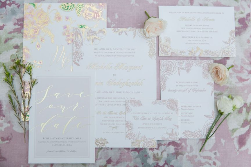 Blush Wedding Invites and Other Paper Goods