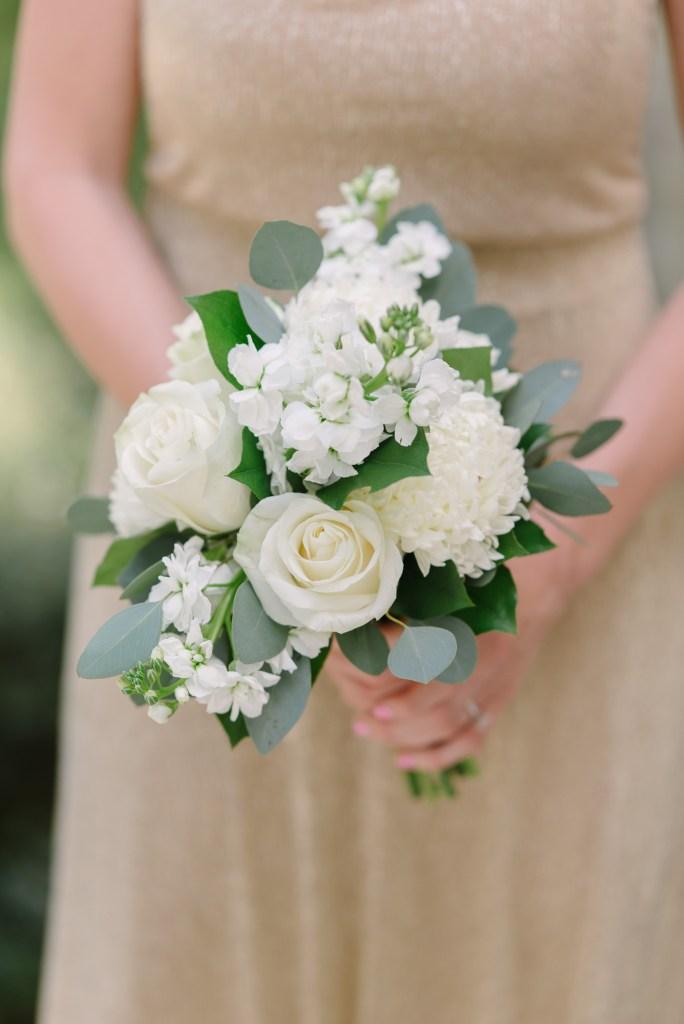 All-White Bridesmaid Bouquet