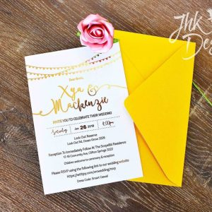 Foiled Wedding Invitations