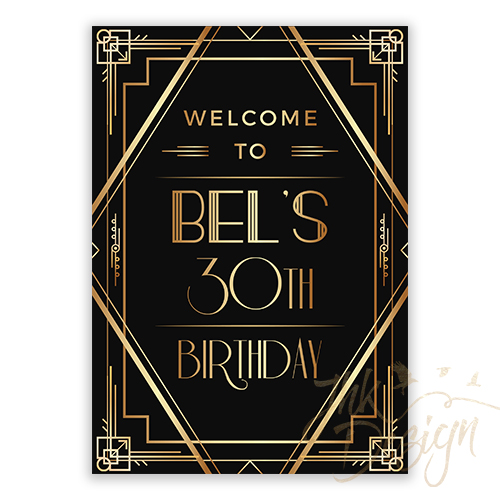 Gatsby Birthday Welcome Sign