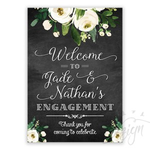 Vintage Chalkboard Look Welcome Sign
