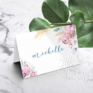 Folded Wedding Place Cards