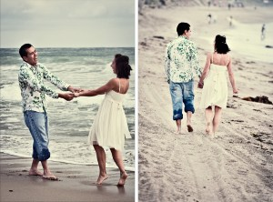 San Clemente Engagement on the beach