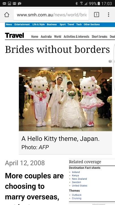 Sydney Morning Herald - WeddingsAbroad.com