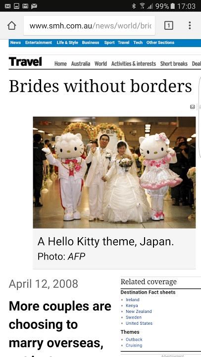 Sydney Morning Herald - WeddingsAbroad.com