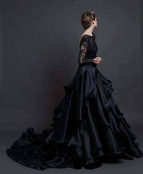 Black Wedding Gown - WeddingsAbroad.com - Wedding Expert Planner & Blogger
