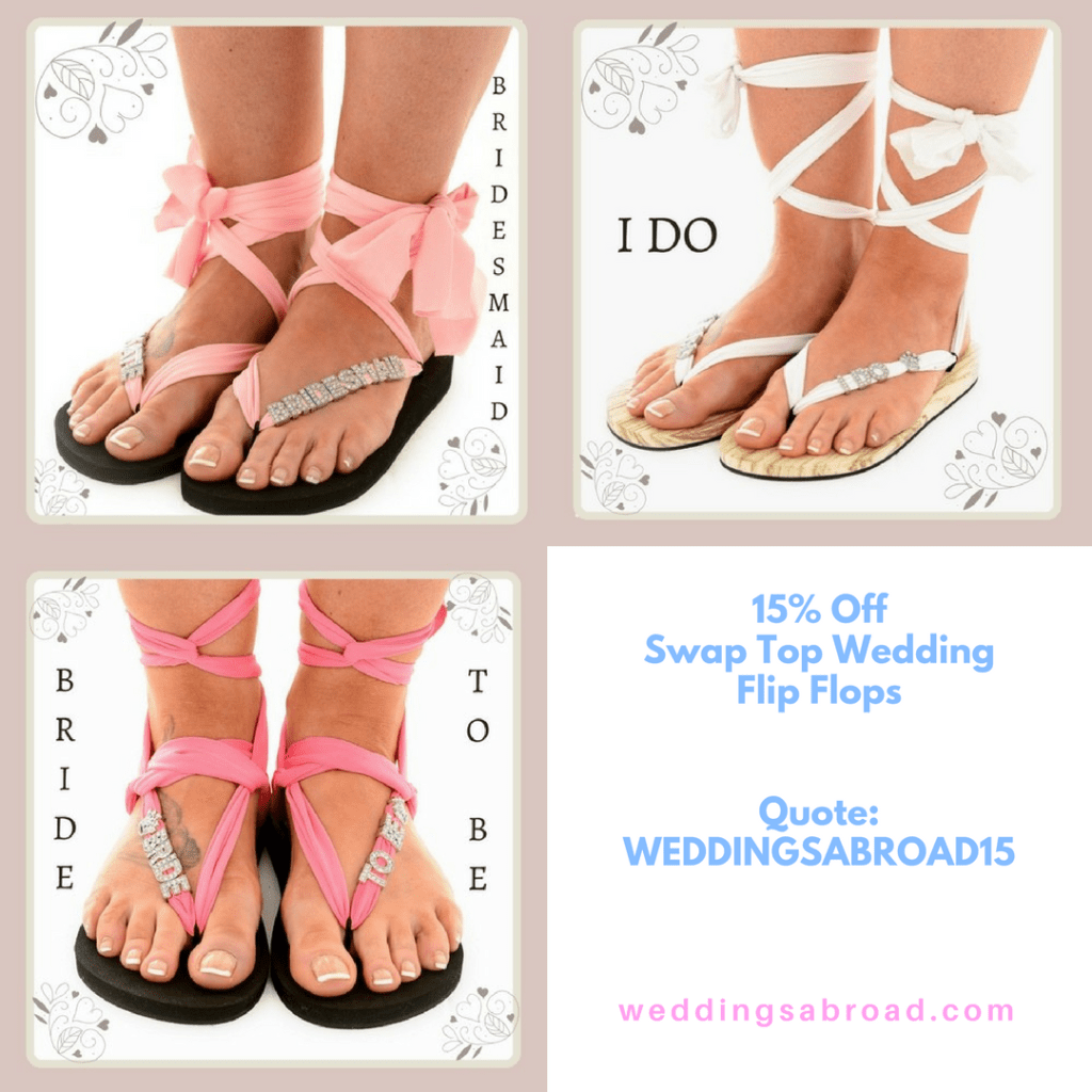 Swap Top Wedding Flip Flops Weddings Abroad Hen Party Weddings WeddingsAbroad.com