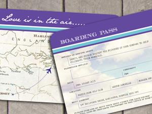 Boarding P Ticket Destination Stationery By Wedding Invitation Designer