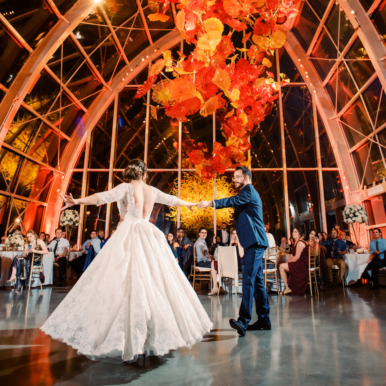 Don't miss out on amazing deals on glass wall lighting. A Wedding At Chihuly Garden Glass Lauren And Kyle