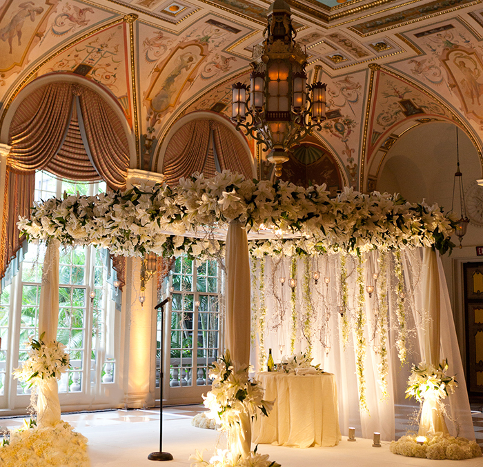 Chuppah decor inspiration at The Breakers