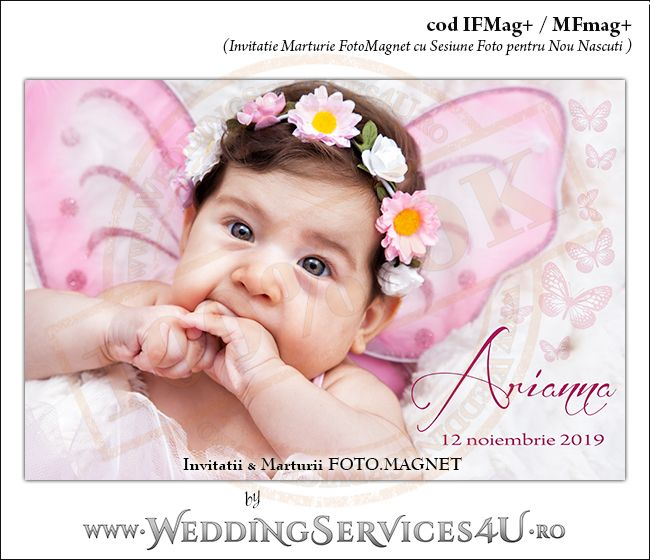 Invitatii Marturii FotoMagnet + Sesiune Foto Nou Nascuti, Bebelusi sau Copii by WeddingServices4U.ro