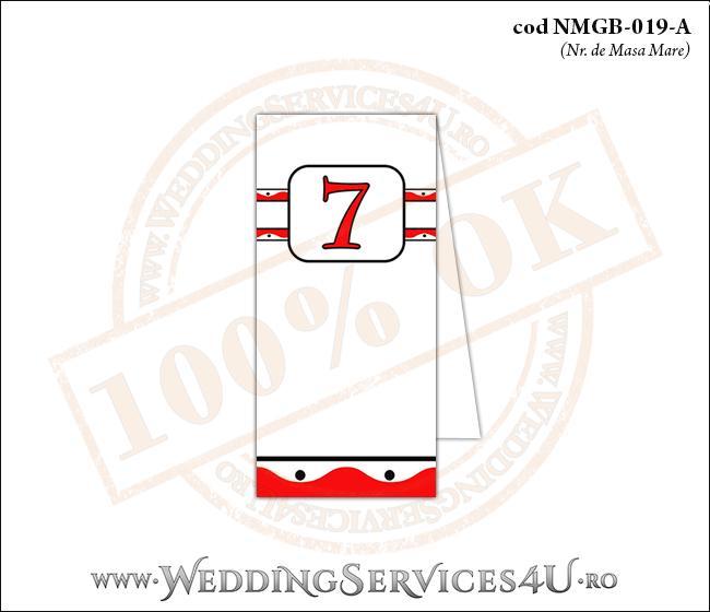 NMGB-019-A Numar de Masa pentru Botez cu motive traditionale