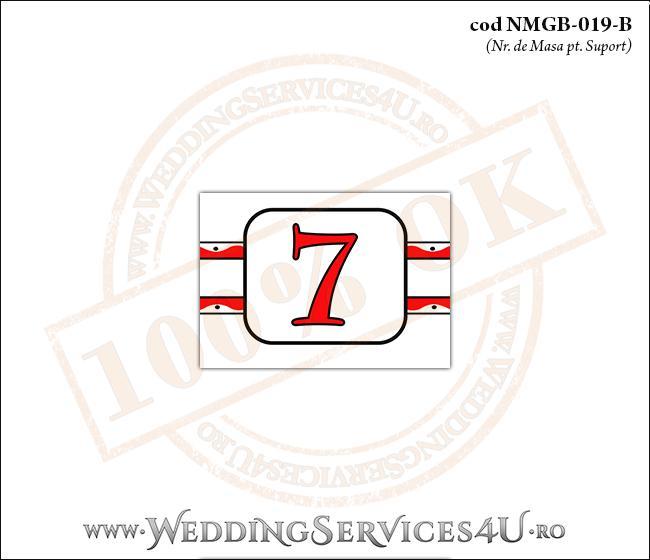 NMGB-019-B Numar de Masa pentru Botez cu motive traditionale