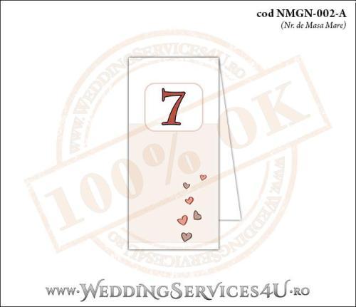 NMGN-002-A Numar de Masa pentru Nunta sau Botez cu inimioare